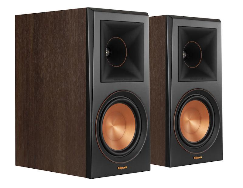 Klipsch RP-600M Bookshelf Speakers in Walnut