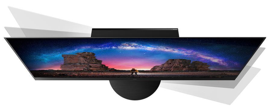 Panasonic TV-65JZ2000E OLED TV 2021 Top View Swivel Stand