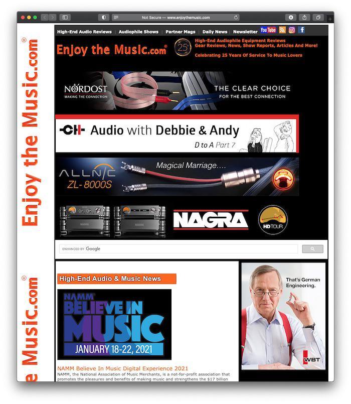 enjoythemusic.com homepage 2021-01-11