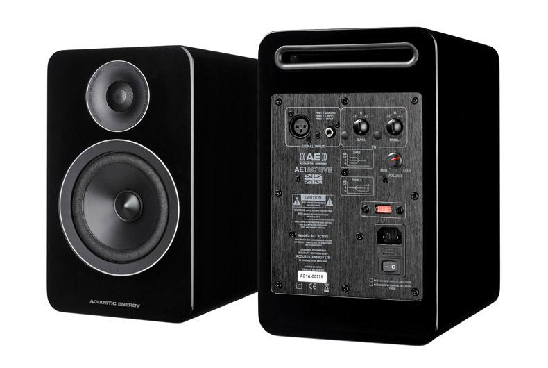 Acoustic Energy AE1 Active Speakers in Black Front and Back