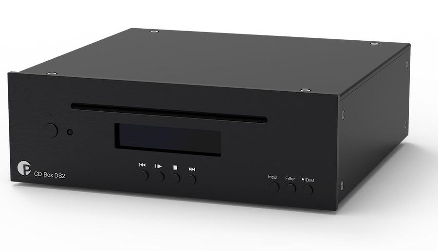 Pro-ject CD Box DS2 CD Player in black front angle