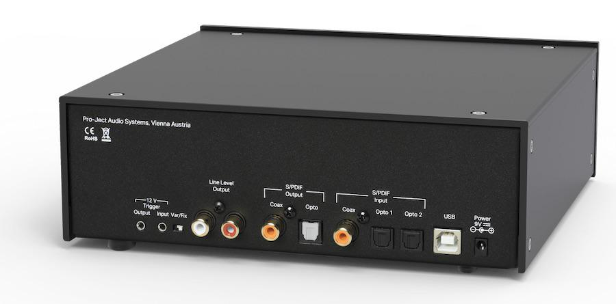 Pro-ject CD Box DS2 CD Player in black rear angle