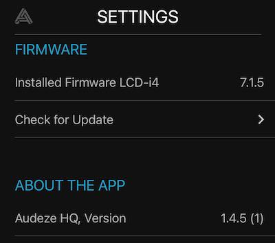 App Settings for Audeze LCDi3 In-ear Headphones