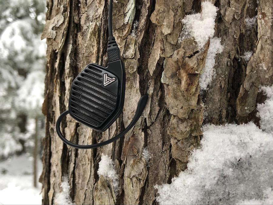 Audeze LCDi3 In-ear Headphone hanging from tree
