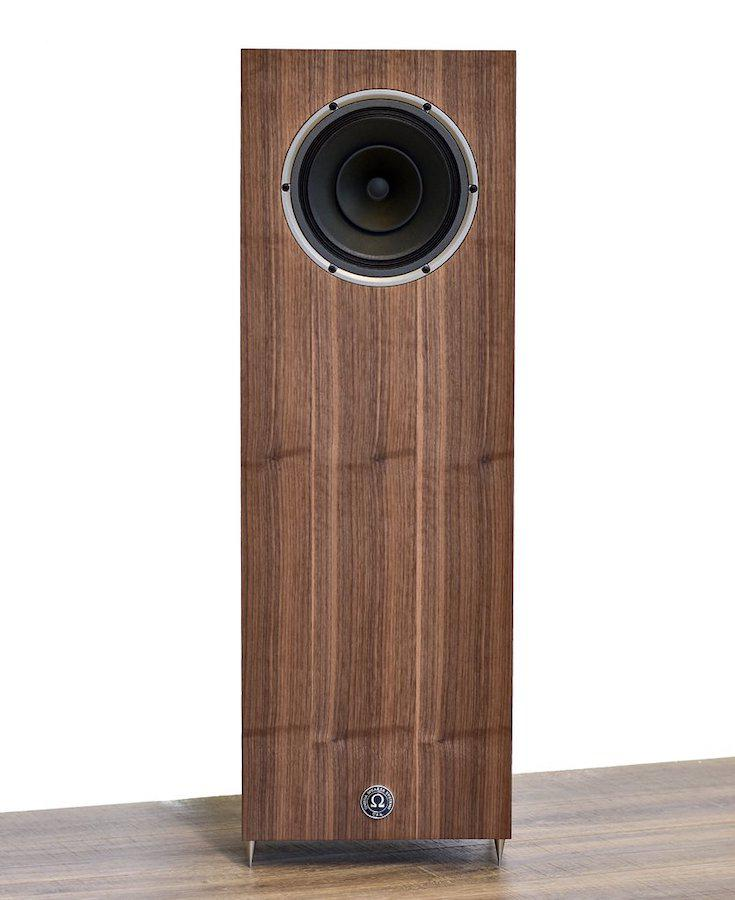Omega Speaker Systems Super 8 XRS Loudspeaker in natural walnut