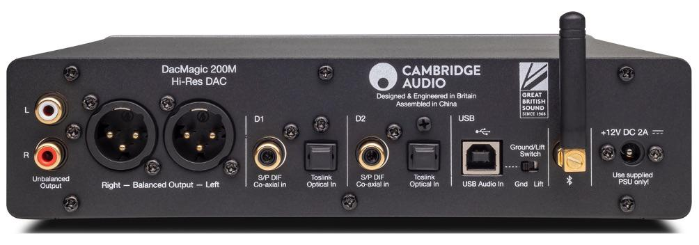 Cambridge Audio DacMagic 200m DAC Headphone Amplifier Back