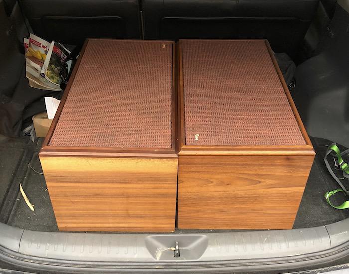 Jensen Model 4 Loudspeakers in trunk