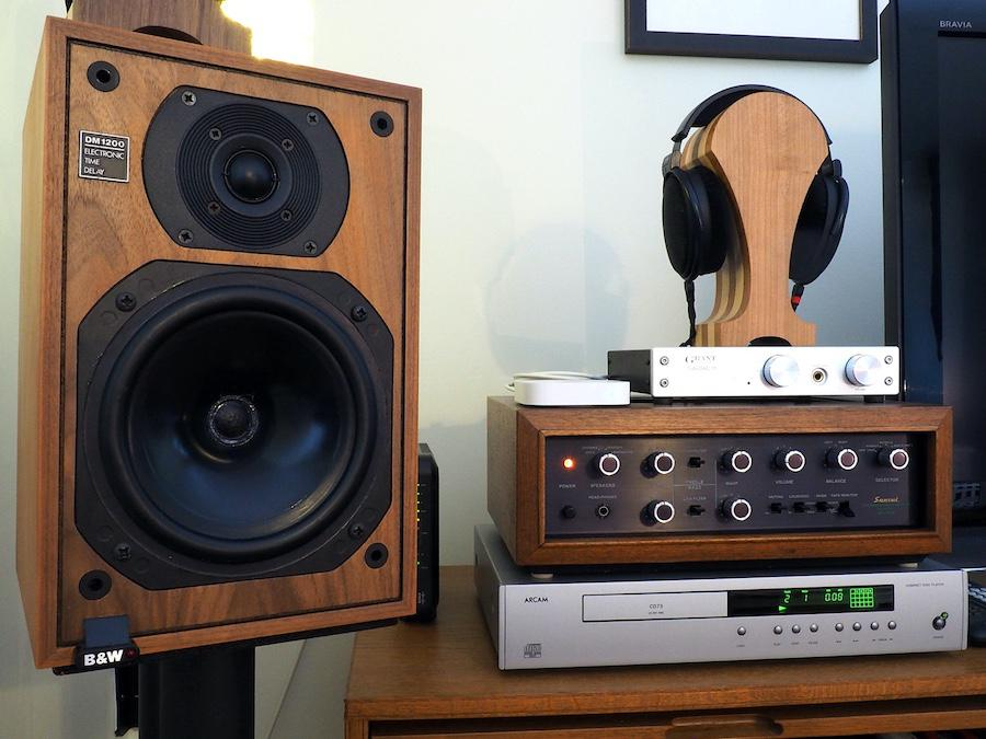 Sansui AU-555 and B&W DM 1200, with Arcam CD-73 and Grant Fidelity TubeDAC 11