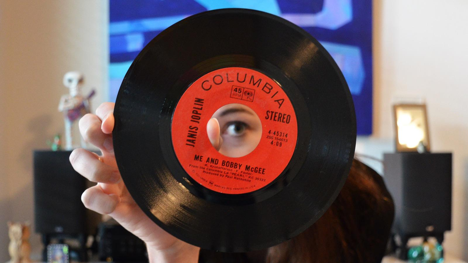 Lauren Halliday Behind Bobby McGee 45 RPM Record