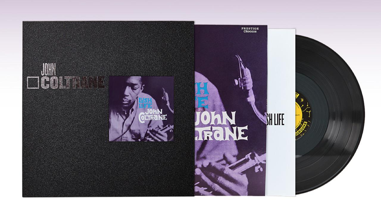 John Coltrane Lush Life Vinyl Reissue partially in sleeve