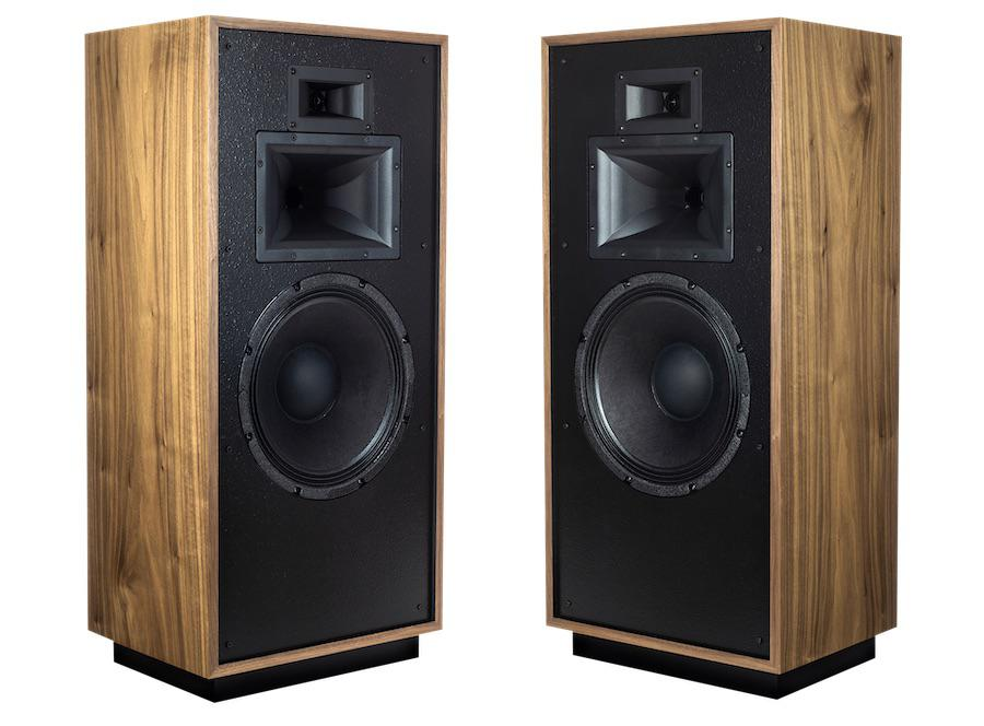 Klipsch Forte IV Loudspeaker finishes without grille in American Walnut