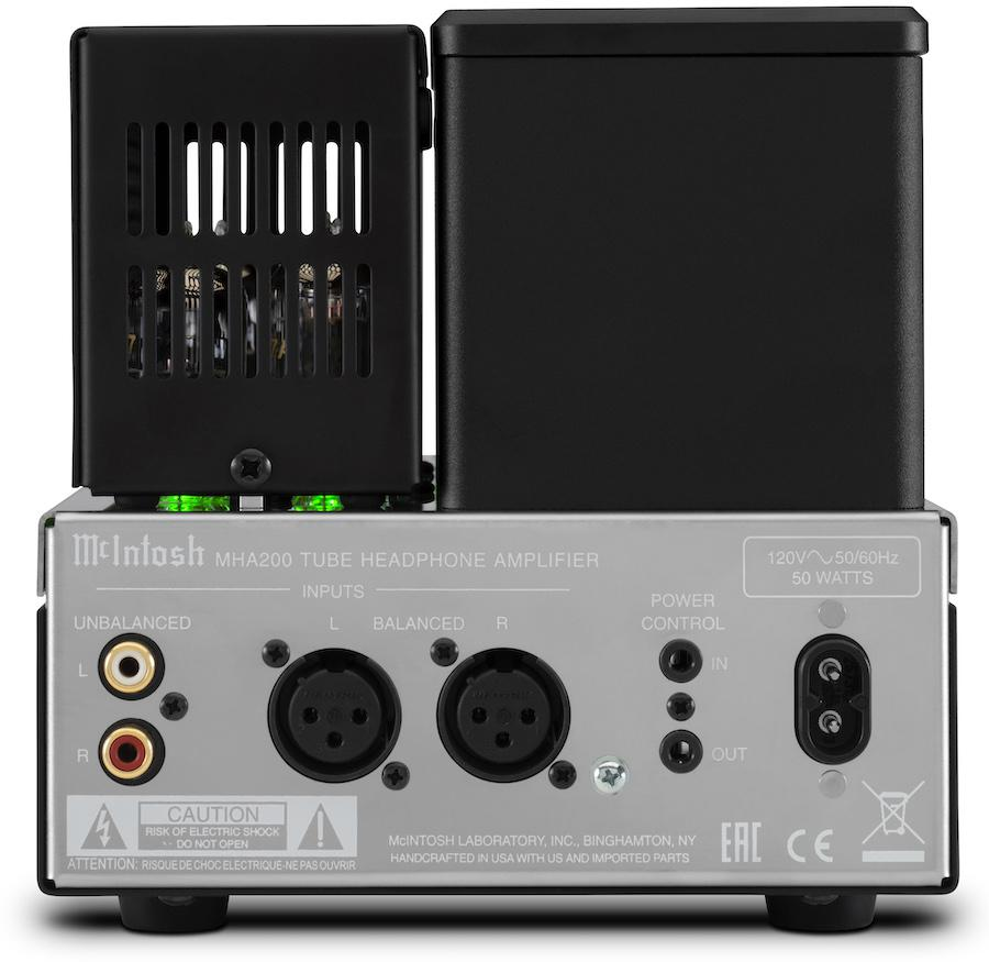 McIntosh MHA200 Headphone Tube Amplifier Back With Cage