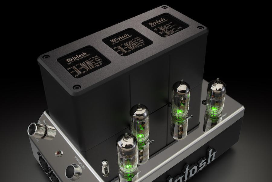 McIntosh MHA200 Headphone Tube Amplifier Closeup of Transformers Without Cage