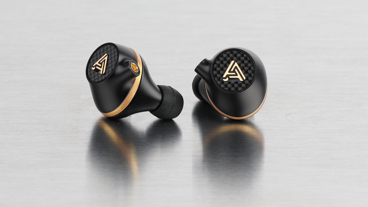 Pair of Audeze Euclid Earphones on chrome