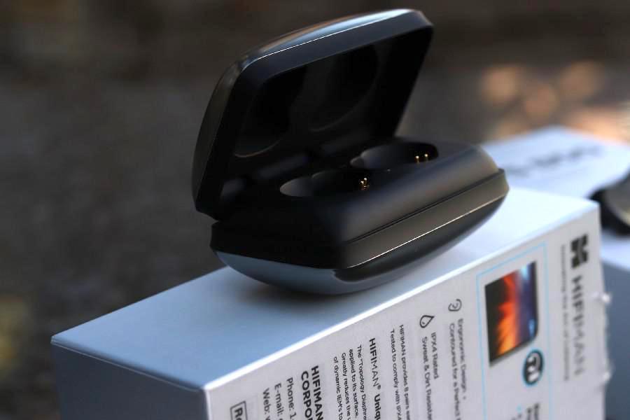 Estuche para auriculares HiFiMAN TWS800 abierto