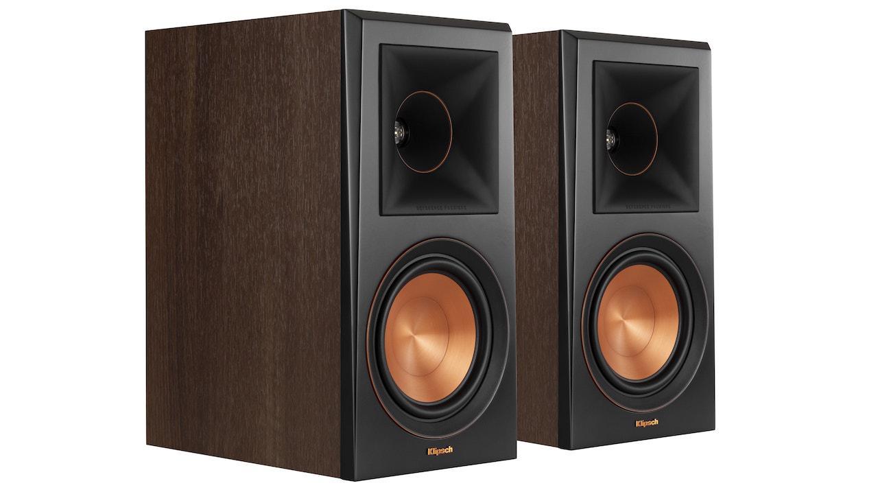 Klipsch RP-600M Bookshelf Loudspeakers in walnut without grille pair