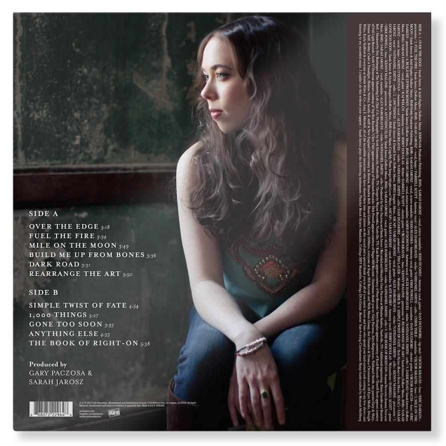 Sarah Jarosz Vinyl Album Back Cover Reissue