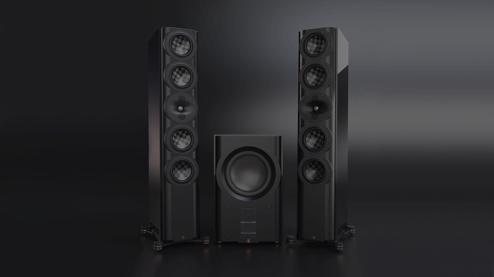 PerListen s7t Tower Loudspeakers pair with d212s subwoofer