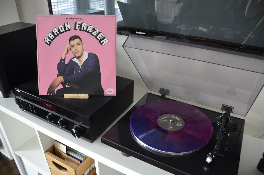 Aaron Frazer Introducing Album playing on record player