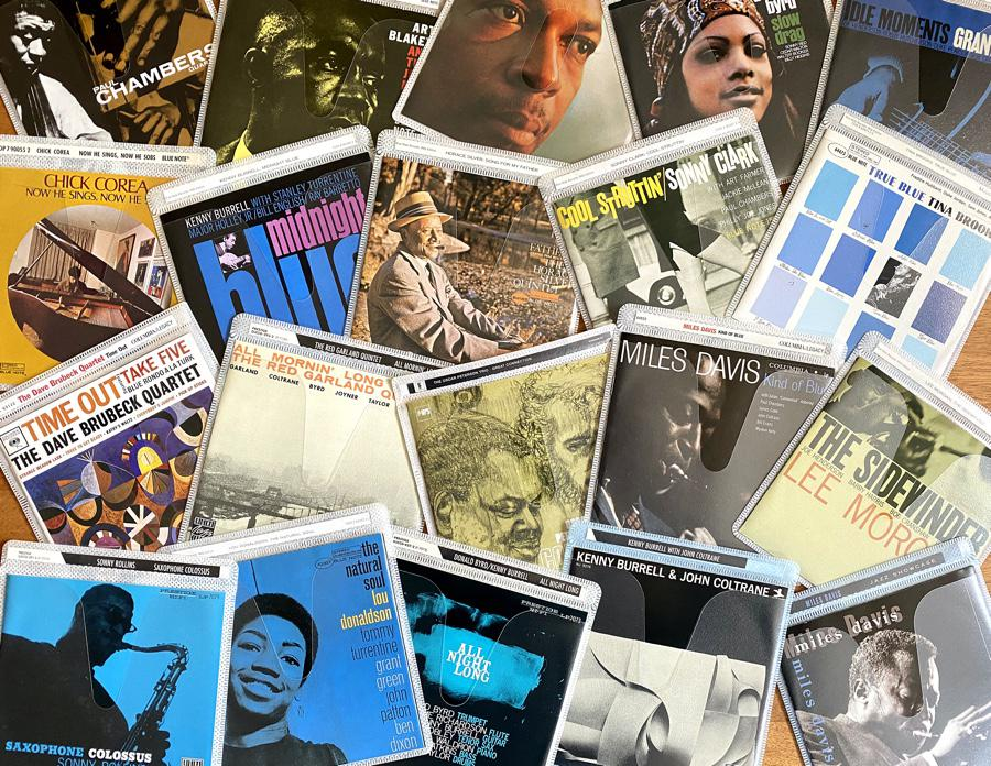 Collage: Where would you start on a jazz collection? So much to choose from.