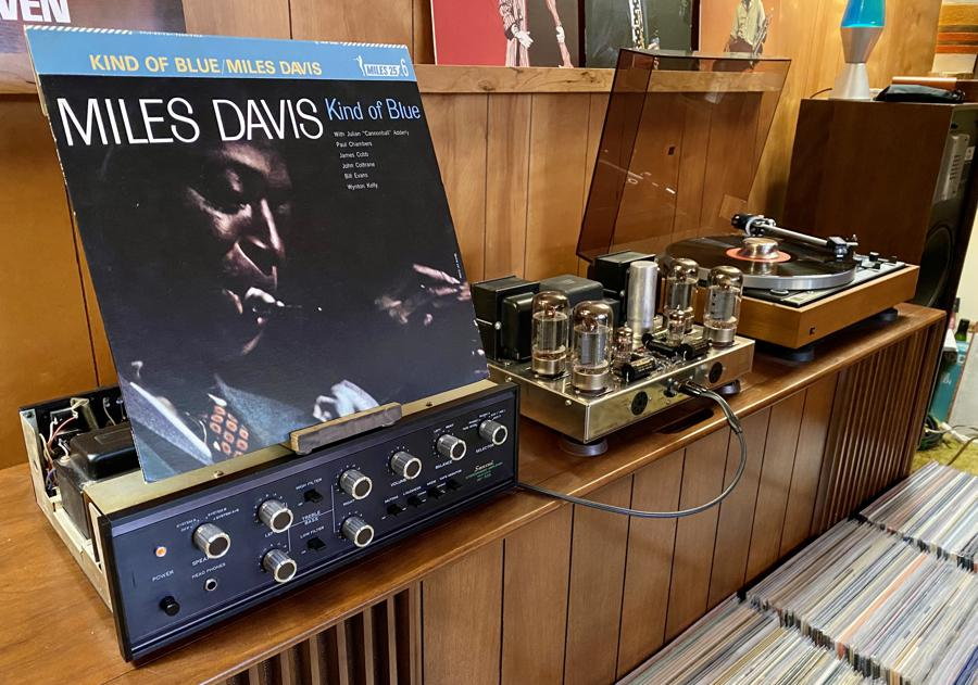 Kind Of Blue: Prize Japanese pressing of the world's top-selling jazz album, playing on Dual 701, Sansui AU-555 and Dynaco ST70.