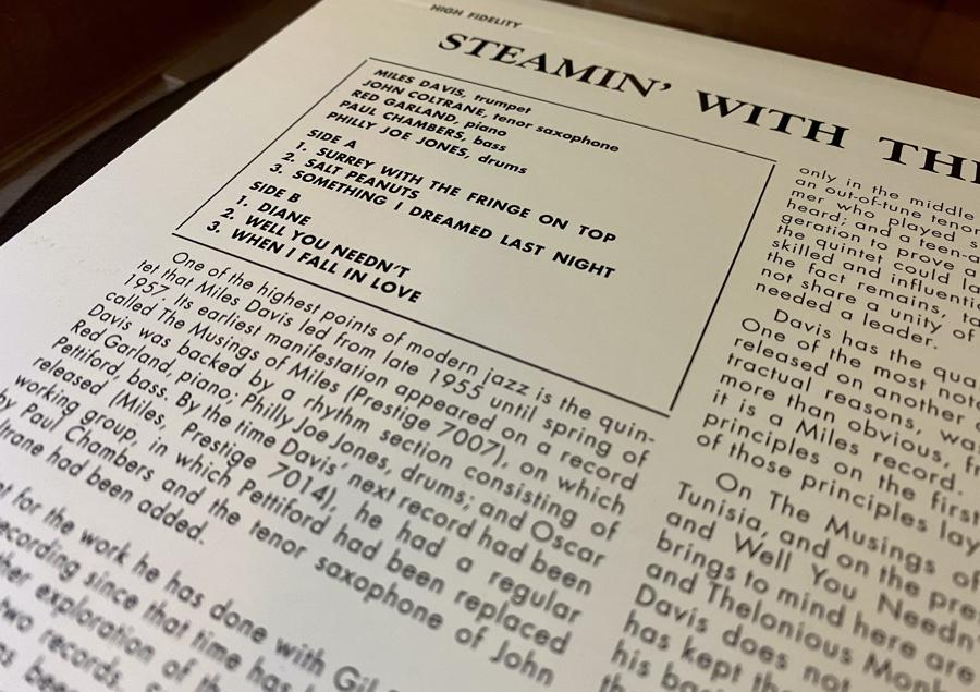 Steamin': One of five masterpieces from the first great Miles Davis Quintet.