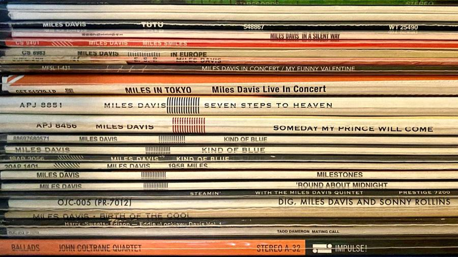 Spines: Still a long way to go to having a complete set of Miles' recordings, but a good start.