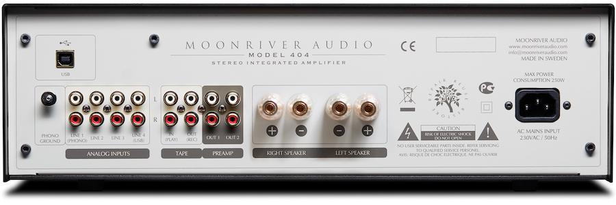 Moonriver 404 Stereo Integrated Amplifier Back