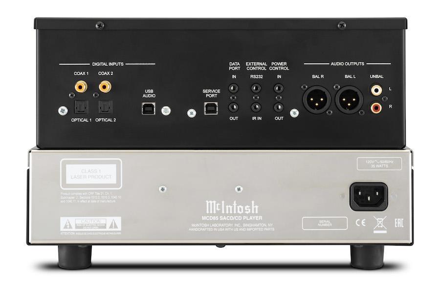 McIntosh MCD85 SACD/CD Player Back