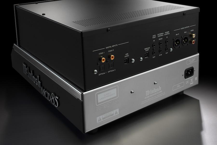 McIntosh MCD85 SACD/CD Player Rear Angle