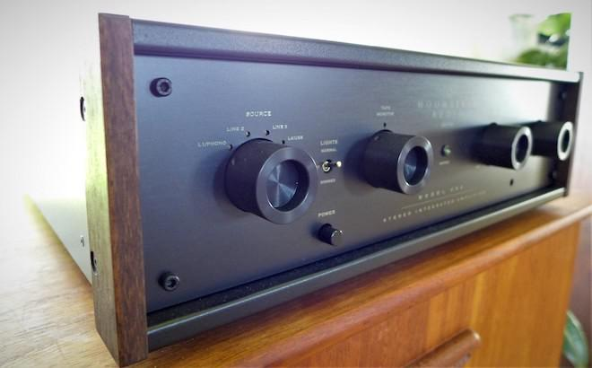 Moonriver 404 Integrated Amplifier Front Low Angle