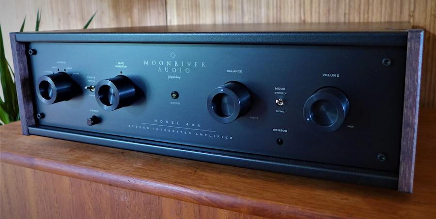 Moonriver 404 Integrated Amplifier Front Angle Left