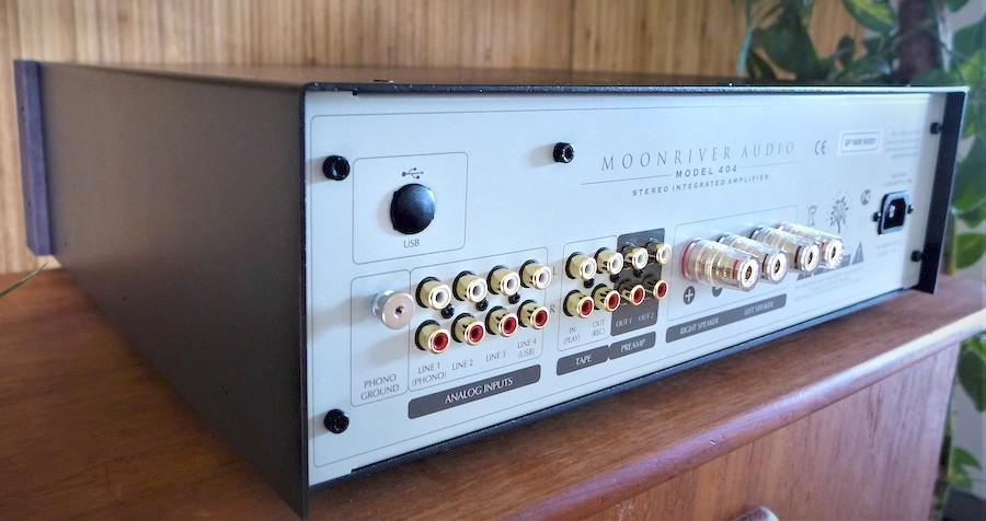 Moonriver 404 Integrated Amplifier rear angle