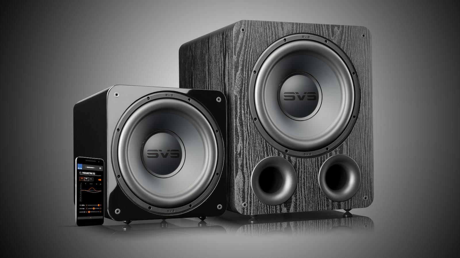 SVS SB-1000 Pro and PB-1000 Subwoofers with smartphone app