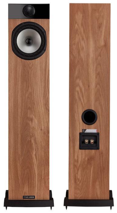 Fyne Audio F302 Loudspeaker Front Back in Oak