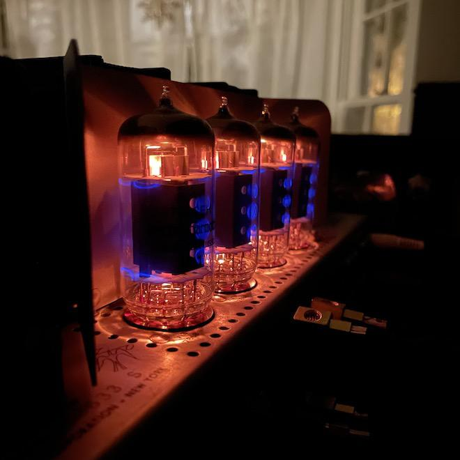 Fisher 400 Tubes Glowing