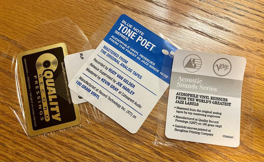Audiophile Vinyl Labels: Bluenote, Quality Record Pressings, Acoustics Sounds Series