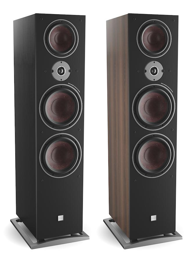 DALI OBERON 9 Tower Loudspeakers in black and walnut without grille