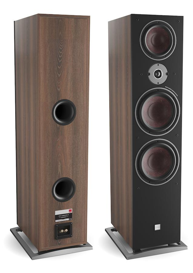 DALI OBERON 9 Tower Loudspeakers in walnut front and back