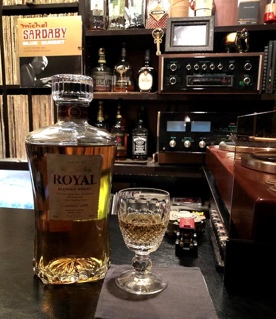 Bar Browny, Suntory Royal and Michel Sardaby brought together perfectly with Denon DP-1300 turntables with Shure V15iii cart's, McIntosh C30 preamp and MC2105 power amp