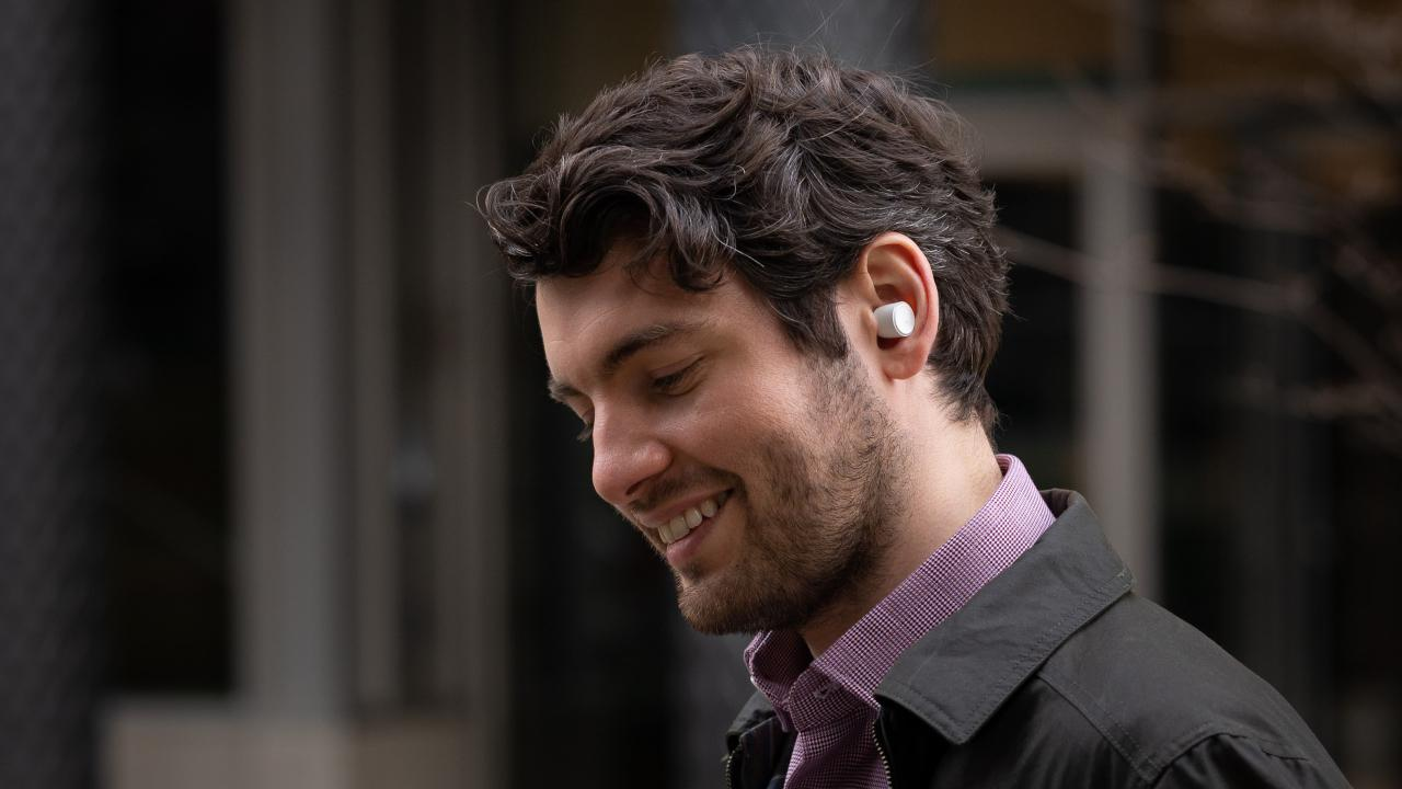 Cambridge Audio Melomania 1+ Eearphones on Man Lifestyle