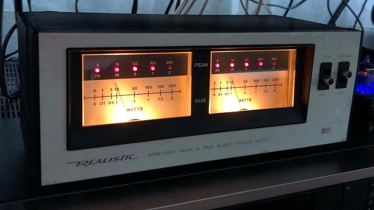 Realistic APM-200 Peak & RMS Audio Meter