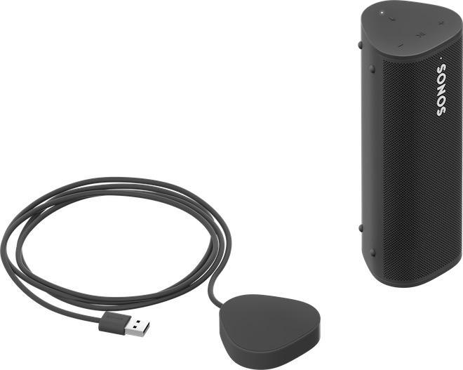 Sonos Roam Portable Wireless Speaker Black with Wireless Charger