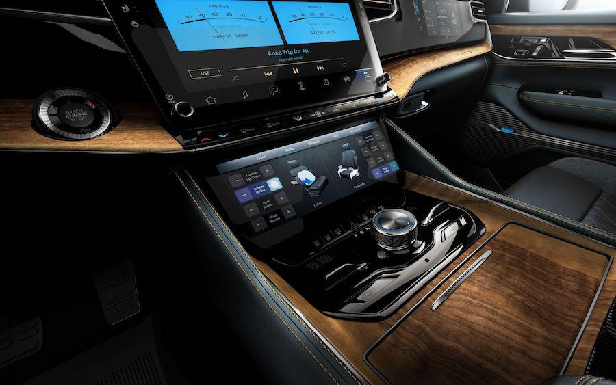 2022 Jeep Grand Wagoneer Interior with McIntosh MX1375 Reference Entertainment System Gray