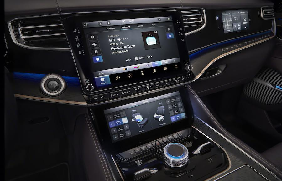 2022 Jeep Grand Wagoneer Interior with McIntosh MX1375 Reference Entertainment System Radio