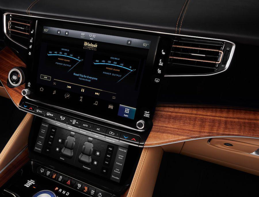 2022 Jeep Grand Wagoneer Interior with McIntosh MX1375 Reference Entertainment System Dash