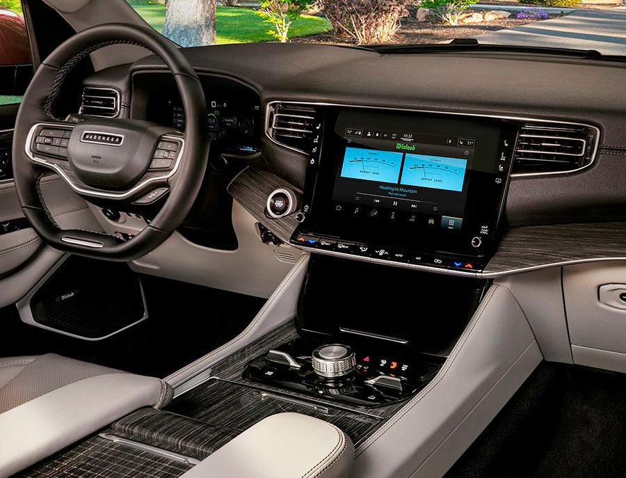 2022 Jeep Wagoneer Interior with McIntosh MX950 Entertainment System