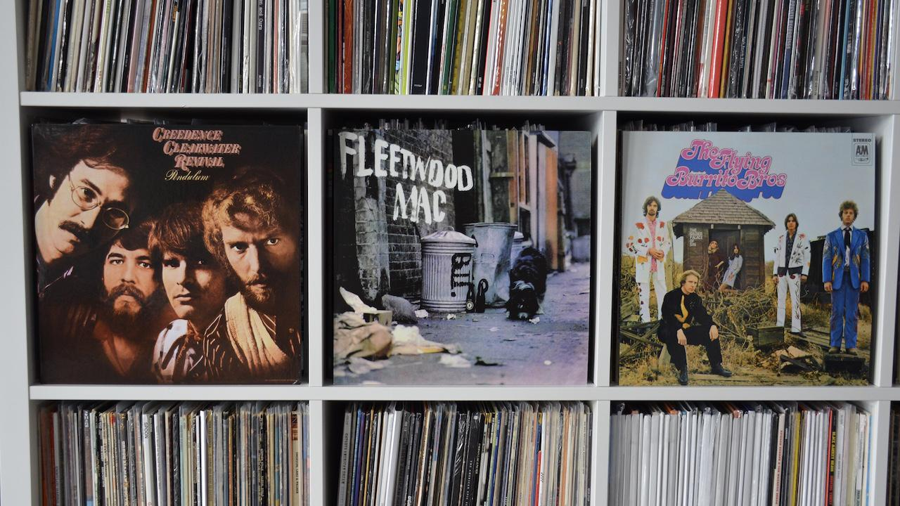 Creedence Clearwater Revival Pendulum, Fleetwood Mac and Flying Burrito Brothers Albums