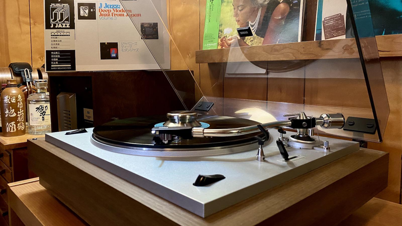J Jazz on record player