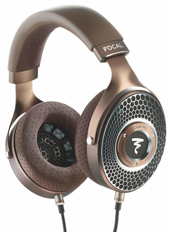 Focal Clear Mg Headphones with cables attached